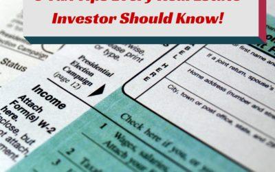 3 Tax Tips Every Real Estate Investor Should Know