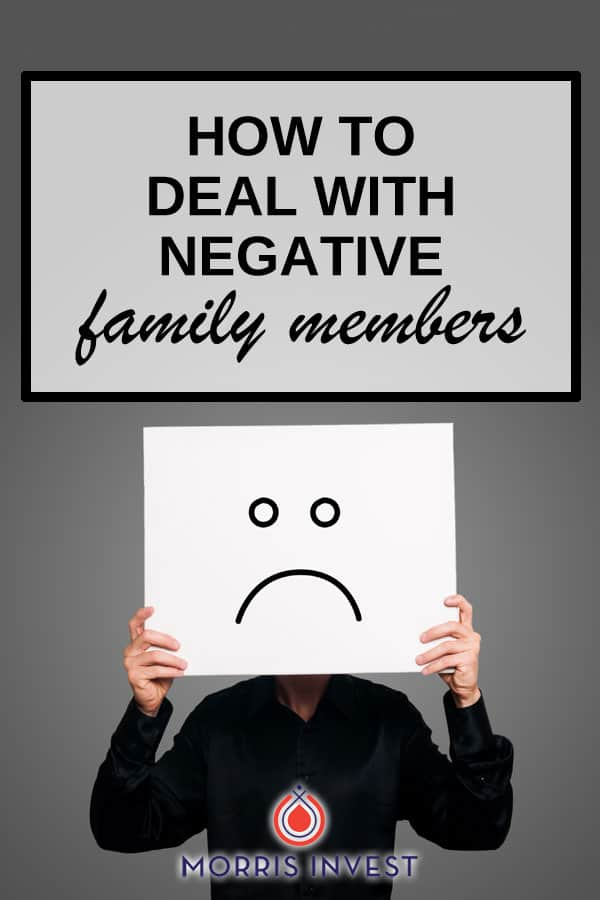 How to deal with negative family members who don't get you as a real estate investor.