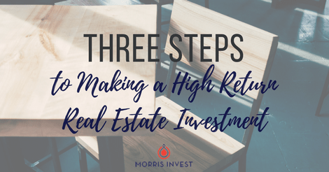 Three Steps to Making a High Return Real Estate Investment