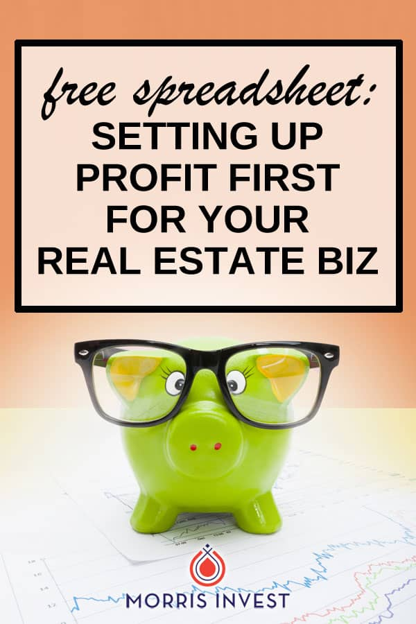 Free spreadsheet to help implement Profit First in your real estate business. Automatically keeps a running total of your revenue, and helps determine the Profit First distributions for your specific business.