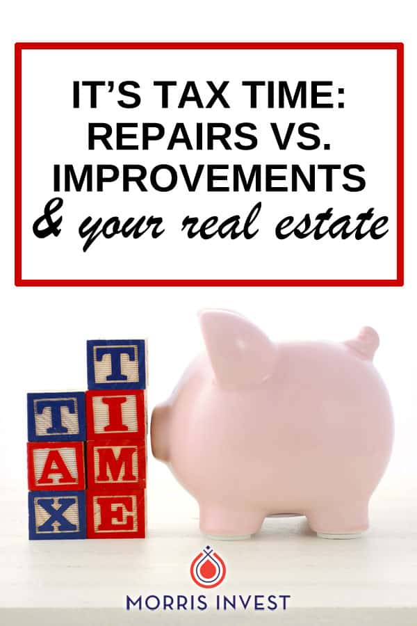As a real estate investor, the difference between repairs & improvements matters come tax time.