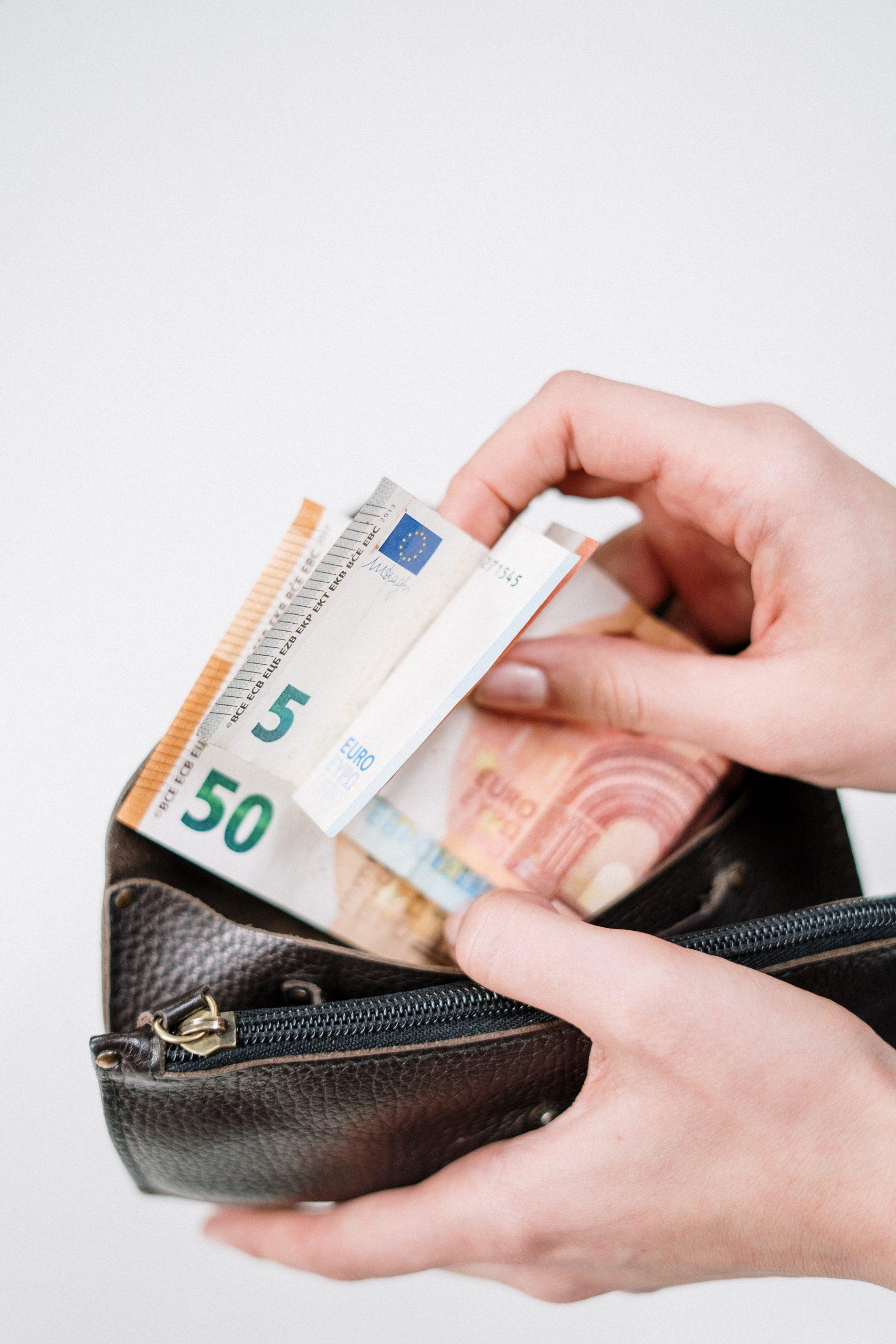money inside a wallet